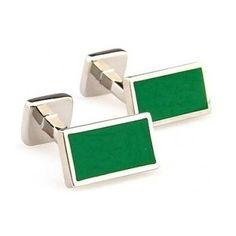 Gemelos Igemelos Rectangulares Rodio Plata Verde  http://www.tutunca.es/gemelos-igemelos-rectangulares-rodio-plata-verde