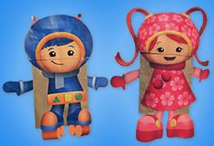Team Umizoomi Paper Bag Puppets craft
