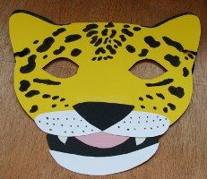 template for simple jaguar mask