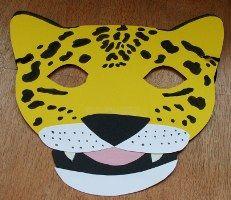 template for simple jaguar mask