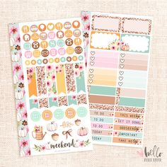 Fall in Love - Personal planner sticker kit / Fall floral by HelloPetitePaper on Etsy https://www.etsy.com/listing/459163548/fall-in-love-personal-planner-sticker