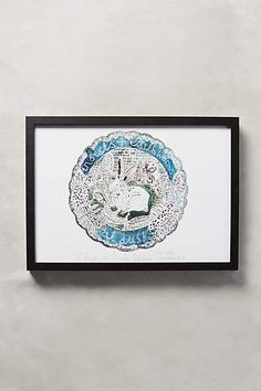 A Plate For Lamb's Lettuce Wall Art - anthropologie.com #anthrofave