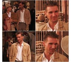 Ralph Finnes in The English Patient - his style in this film is my romantic ideal.