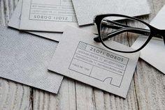 Zsófi Dobos 34 Architects Business Card Designs