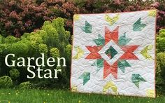 This is my new quilt pattern called Garden Star. It features Jack and the Beanstalk fabric. To see more projects go to my blog at http://www.brownbirddesignsquilts.com/