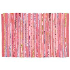 for little miss :: The Land of Nod | Kids Rugs: Kids Pink Recycled Cotton Rug in All Rugs 5x8 is 199