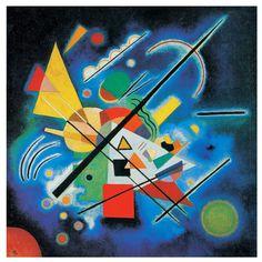 Vasily Kandinsky / Blue Painting / January 1924 / oil on canvas, mounted on board / Guggenheim Museum Abstract Words, Abstract Art, Abstract Paintings, Kandinsky Art, Wassily Kandinsky Paintings, Blue Painting, Painting Art, Art And Architecture, Abstract Expressionism