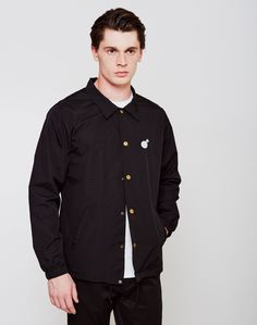 the hundreds mens bar logo coaches jacket black Men's Wardrobe, Wardrobe Basics, Bar Logo, Casual Trainers, Statement Tees, Mens Style Guide, Spring Summer Trends, Formal Shirts, Sports Jacket