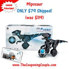 ***HOT HOT DEAL ON A HOT GIFT IDEA*** Miposaur Interactive Robot ONLY $79 SHIPPED (was $119)! This is the Lowest Price Ever! Grab it now before the price goes back up! Click the link below to get all of the details ► http://www.thecouponingcouple.com/miposaur/  #Coupons #Couponing #CouponCommunity  Visit us at http://www.thecouponingcouple.com for more great posts!