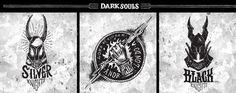 Dark Souls Emblem Collection on Behance Ornstein Dark Souls, Soul Tattoo, Knight Logo, Graphic Art, Badge, Logo Design, Behance, Tattos, Collection