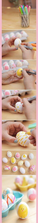 Décoration d'œufs de Pâques - La Vie LC