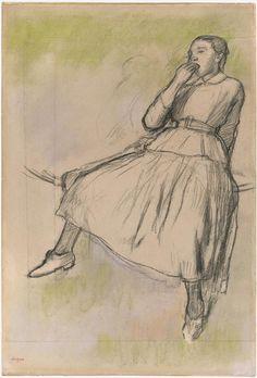 Edgar Degas, Study for Les Cueilleurs de pommes, 1881. Pastel and pencil on paper