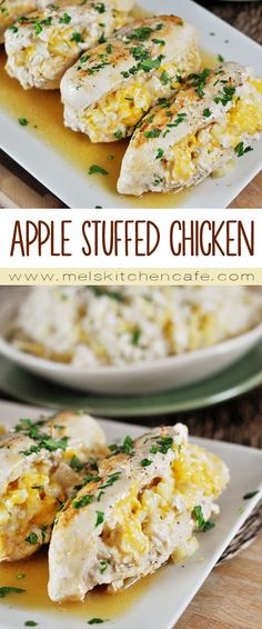 These quick and easy Apple Stuffed Chicken Breasts are unique and delicious.
