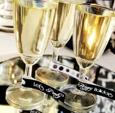 New Year's Champagne Labels Templates | ... party kit includes the following templates customizable templates