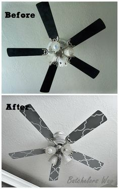 Super easy industrial style fan makeover pinterest ceiling fan super easy industrial style fan makeover pinterest ceiling fan spray painting and bulbs mozeypictures Gallery