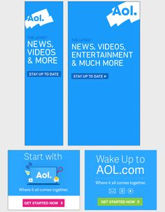 AOL banner ads Email Marketing Companies, Google Banner, Banner Design Inspiration, Create A Banner, Web Design, Best Banner, Facebook Banner, Youtube Banners, Display Ads