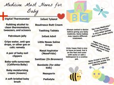 Needed Items For When Baby Comes