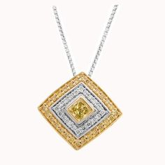 JewelryConnoisseur by Rapaport sur Instagram: [RAPNET JEWELRY] This week's selection from @rapnetdiamondtrading is this gorgeous halo pendant in 20-karat yellow gold and 18-karat white… Gold Necklace, Pendant Necklace, Colored Diamonds, Halo, Yellow, Instagram, Jewelry, Gold Pendant Necklace, Jewlery