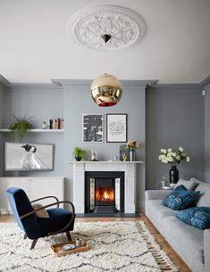 New Victorian Living Room Lighting Interiors Ideas Living Room Trends, Chic Living Room, Living Room Grey, Living Room Inspiration, Living Room Designs, Living Room Furniture, Living Room Decor, Inspiration Design, Living Rooms