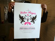 Awesome Letterpress Poster for a RollerDerby event.