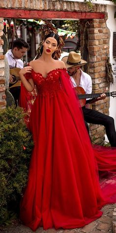Dark Romance: 27 Gothic Wedding Dresses ❤  gothic wedding dresses red a line sweetheart neckline lace top tarik ediz ❤ #weddingdresses Gothic Wedding, Wedding Bride, Wedding Ideas, Boho Wedding, Wedding Gowns, Dream Wedding, Wedding Inspiration, Azul Tiffany, Bridesmaid Dresses