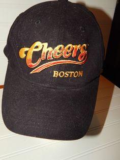 71ce041b7 CHEERS Boston Embroidered Baseball Cap Hat Adjustable Black EUC  Cheers   BaseballCap