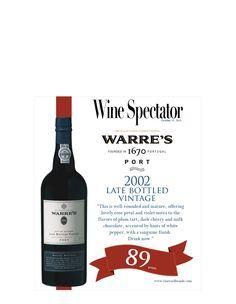 Warre's Late Bottled Vintage Port - Wine Spectator - 89 points