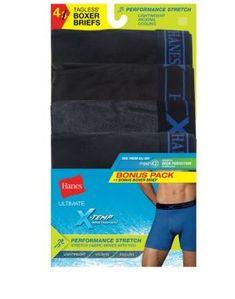 1de4a6220fc Men s Hanes X-Temp Perfect Stretch poly Boxer Brief 4-Pack  UPBB4A Men s