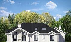 Projekt domu Rezydencja Parkowa 3 259,28 m2 - koszt budowy - EXTRADOM Beautiful House Plans, Beautiful Homes, Bungalow, House Outside Design, Civil Construction, Precast Concrete, Cottage Plan, Model Homes, Modern House Design
