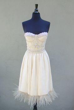 Rita Short Wedding Dress by deborahlindquist on Etsy