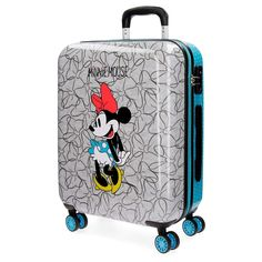 Disney Minnie Blue Valigia per bambini, 69 cm, 75 liters, Multicolore (Multicolor) Hand Luggage Suitcase, Luggage Deals, Best Luggage, Disney Luggage, Childrens Luggage, Minnie Mouse Bow, Trolley Bags, Disney Home, Viajes