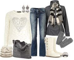 """Cold Winter Day"" by fabulousego on Polyvore  SO COMFY!"