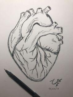 drawing easy step by step ; drawing easy for kids ; Easy Pencil Drawings, Cool Art Drawings, Doodle Drawings, Drawing Sketches, Drawing Ideas, Drawing Tips, Drawings Of Hearts, Easy Heart Drawings, Cute Love Drawings