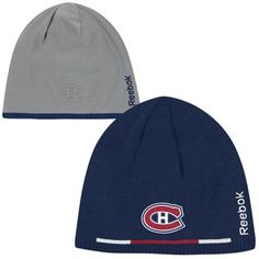 Reebok Montreal Canadiens Player Reversible Beanie - Navy Blue/Charcoal