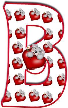 Alfabeto de Tatty con corazones. - Oh my Alfabetos!