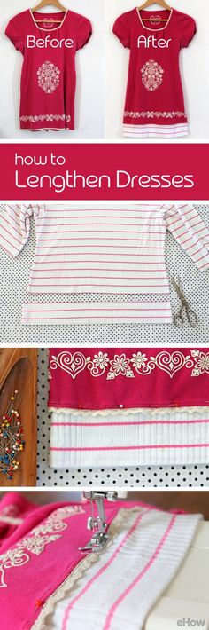 Lengthen that almost too short dress so you can feel comfortable all summer long with this fantastic sewing trick! http://www.ehow.com/how_12168366_make-short-dresses-longer.html?utm_source=pinterest.com&utm_medium=referral&utm_content=inline&utm_campaign=fanpage