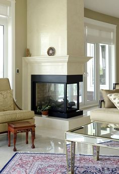 double-sided -fireplace-lk - Transform your Spacious Space with a Double-Sided Fireplace