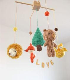Great Totally Free Crochet baby mobile Popular Crochet Woodland Animals Baby Mobile – a unique product by CHERRYTIME-Baby-Mobiles-and-Weddings. Woodland Nursery Decor, Woodland Baby, Woodland Animals, Crochet Baby Mobiles, Crochet Mobile, Popular Crochet, Crochet Animals, Baby Blanket Crochet, Free Crochet
