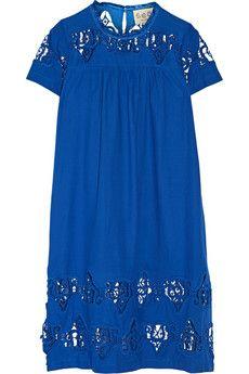 SEA Cutout embroidered cotton-voile dress   NET-A-PORTER