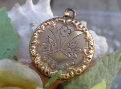 ANTIQUE VTG VICTORIAN 10K Gold GF BB CO Locket Pendant Bliss Brothers Company #BlissBrothersCompany #Locket