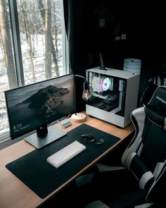 Does your work require you to sit for long hours at the computer? We've created a comprehensive list of the best computer chair for long hours of sitting. Computer Gaming Room, Computer Desk Setup, Gaming Room Setup, Pc Setup, Gaming Rooms, Home Office Setup, Home Office Design, Office Workspace, Best Computer Chairs