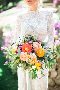 Citrus+Inspiration+at+Quail+Ranch Bridal bouquets Tulip Wedding, Dream Wedding, Wedding Day, Spring Wedding, Bridal Flowers, Prom Flowers, Eclectic Wedding, Romantic Weddings, Wedding Bells