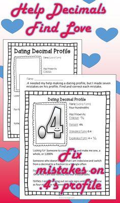 Decimal Activity: Practice Decimal skills while helping decimals find love! (Funny Lesson Hook)