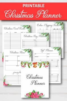Christmas Planner Free Printable - Take the stress out of the holidays with this Christmas Planner free printable. It's exactly what you need to get organized so you can enjoy all the festivities. Christmas Planner Free, Christmas List Printable, Free Christmas Gifts, Christmas Planning, Christmas Holidays, Christmas Journal, Organized Christmas, Christmas Checklist, Christmas Crafts