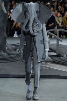 this fashion show has an elephant loose. [Thom Browne A/W 2014/15]