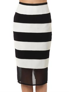 Camilla and Marc Adversary textured-stripe pencil skirt