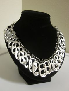 Pop Tab Chainmaille Necklace by ResplendentRiches on Etsy, $9.98