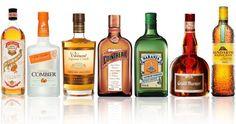 Orange Liqueurs: Pierre Ferrand Dry Curaçao, Combier Liqueur D'Orange, Clément Liqueur Créole, Cointreau, Naranja Orange Liqueur, Grand Marnier, Mandarine Napoléon