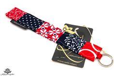 Geschenk für die beste Freundin: Schlüsselanhänger in rot und dunkelblau
