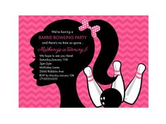 Barbie Bowling Party Birthday Party Invitation by squigglestudio, $7.00